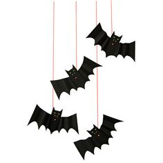 HANGING BAT DECORATION IDEAS with holographic silver accents by Meri Meri - Sold by Bonjour Fete - A party boutique in Los Angeles, CA - Ships Worldwide