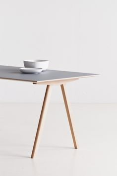 Table by HAY (via the absolute DESIGN blog…) I like the simplicity of the leg structure