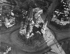 Berlin 1946 Kaiser Wilhelm Gedaechtniskirche und Auguste-Viktoria-Platz (ab 1947 Breitscheidplatz)