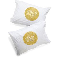 Kin Ship Cosmic Goodnight, Room Pillowcase Set ($30) found on Polyvore