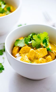 AWESOME Thai Yellow Chicken Curry - you seriously won't believe how easy this is to make. Adaptable to any protein or veggies you have on hand! | pinchofyum.com