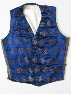 1850 Men's Silk Wedding Vest / Waistcoat With Provenance & Tailor's Stamp