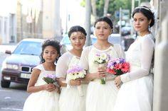 #bridesmaids #purplebouquet #goldbands #tiara