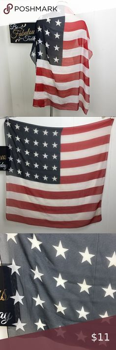 "Harley-Davidson Patriotic Eagle Long scarf 58/"" by 11/"""