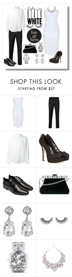 """""""His & Hers"""" by luxurylust-x ❤ liked on Polyvore featuring Bebe, Ted Baker, FAY, Dolce&Gabbana, COSTUME NATIONAL, Kenneth Jay Lane, Victoria's Secret and Movado"""