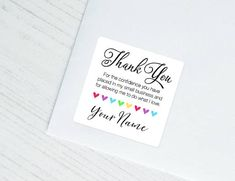 20 best small business thank you card images on pinterest in 2018
