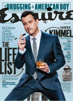 Male Fashion Trends: Jimmy Kimmel para Esquire USA Abril 2014
