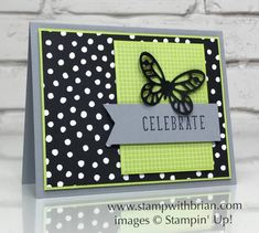 Color Me Happy, Bold Butterfly Framelits, Stampin' Up!, Brian King, FabFri133