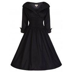 Ramona Black Party Swing Dress | Vintage Inspired Fashion - Lindy Bop