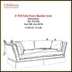 Brian study  F518-1 FAUX RATCHET ARM SOFA