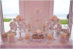 Florence White linen by Rentals Unlimited. Dessert Buffet, Dessert Tables, Dessert Bars, Fun Ideas, Party Ideas, Bridal Shower Luncheon, Candy Bar Wedding, Buffet Ideas, Wedding Inspiration