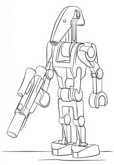 Lego Battle Droid coloring page from Lego Star Wars category. Select from 24795 printable crafts of cartoons, nature, animals, Bible and many more.