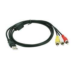 Topzone USB A plug to 3 RCA plugs by Topzone. $2.49. USB A plug to 3 RCA plugs