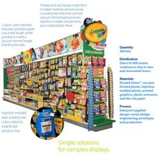 Miramar Designs created Crayola aisle at Michaels's store that was visible through- out the store, and designed to attract customers