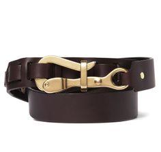 Pelican Hook Belt In Brown Leather - SIR JACK'S
