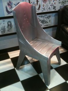 Aluminum Bomber Style Chair   Aluminum With Rivets On Etsy.