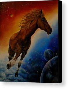 Canvas Print, Painting, horse,wild,animal,equine,equestrian,space,universe,planets,sky,clouds,cloudwalker,dancing,free,happy,running,wildlife,life,stallion,mustang,motion,strong,scene,,vivid,blue,colorful,red,fantastic,dream,whimsical,magical,surreal,contemporary,modern,impressive,beautiful,unique,awesome,cool,fancy,on,in,of,at,above,the,oil,images,artworks,home,office,decor,items,products,for sale,fine art america,dream dancer
