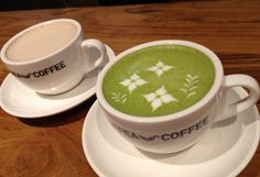 Latte art expert, apart from coffee, their Green Tea Latte is recommended @ Coffea Coffee