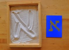 Hebrew letters in sand and on geo boards *Easy DIY project* (sand next door)
