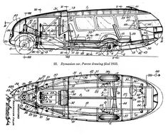 Dymaxion Car Patent by Buckminster Fuller