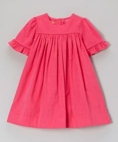 Take a look at this Hot Pink Corduroy Claire Bib Dress - Infant, Toddler & Girls by Stellybelly on #zulily today! So sweet!