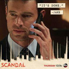 "Scandal TV Show, , Thursdays @ p., Series episode: ""It's Done."" - Jake to Fitz. Scandal Tv Series, Scandal Abc, Walking Dead Tv Series, The Walking Dead Tv, Jake Ballard, Scott Foley, Scandal Quotes, Olivia Pope, How To Get Away"