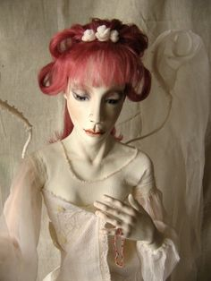 """Art Doll """"Camilla's dream""""  wonderful idea to make angels wings like this"""