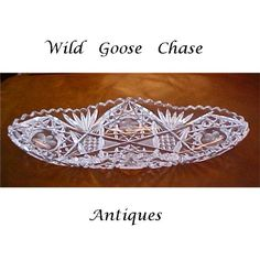 Antique Brilliant Cut Glass Relish or Celery Dish from wildgoosechase on Ruby Lane