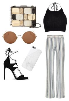 """""""Sem título #1"""" by gihseabra ❤ liked on Polyvore featuring River Island, See by Chloé, Stuart Weitzman, Sunday Somewhere, Native Union and Sondra Roberts"""