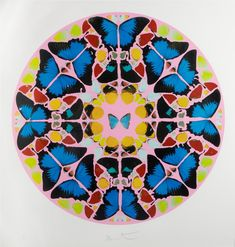 Damien Hirst Psalm Print: Coeli enarrant 2010 740 mm x 715 mm paper size Silkscreen print with glaze Damien Hirst Paintings, Damien Hirst Art, Damien Hirst Butterfly, Zentangle, Hirst Arts, Butterfly Mandala, Butterfly Wings, Bug Art, Insect Art
