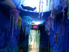 Inspo from our friends! Weird animals vbs our under ocean hall Under The Sea Theme, Under The Sea Party, Submerged Vbs, Under The Sea Decorations, Creation Art, Ocean Party, Vbs 2016, Vbs Crafts, Vacation Bible School
