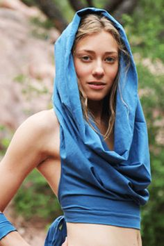 Cowl Hood Crop Top by Elven Forest               #artisanmade #giftsforher http://festivalfirefashion.com/collections/tops