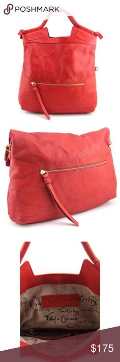 Foley + Corinna mid city cross body tote in red NWT ▫️ Foley + Corinna mid city cross body tote in red ▫️Carry your belongings with ease in the Mid City bag from Foley + Corinna. Made of quality Leather materials, this will keep your essentials on-hand with great style. ▫️ Dust bag included Foley + Corinna Bags Totes