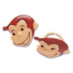 Bakery Crafts Curious George Cupcake Rings, Approx. 1.5', Food Safe (24 CT) * You can get more details by clicking on the image.