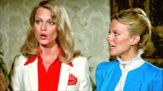 """Shelley Hack and Cheryl Ladd in a scene from the episode Toni's Boys on """"Charlie's Angels."""""""