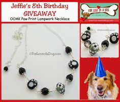 For Love of a Dog Jewelry April Giveaway - Enter to win this paw print dog or cat lover necklace from ForLoveofaDog.com!  Ends April 30.