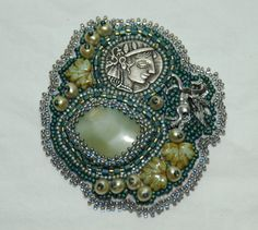 Artemis Beaded Embroidery Brooch by gayhuntley on Etsy, $129.00