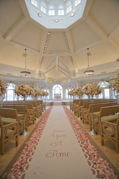 Romantic pink decor at Disney's Wedding Pavilion #WaltDisneyWorld #fairytale #Florida