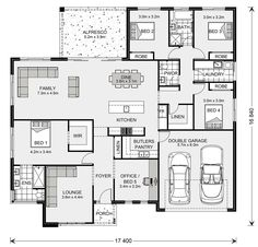 Gardner Homes make building your new home stress free. Browse home designs online or speak to one of our friendly builders today! Best House Plans, Dream House Plans, Custom Home Designs, Custom Homes, Office Open Plan, Office Floor Plan, Display Homes, Bedroom House Plans, Open Plan Living