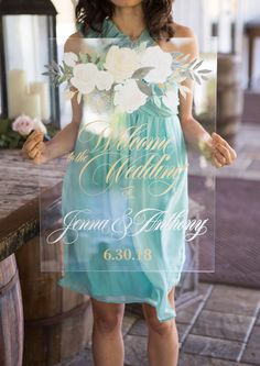 Floral Clear Acrylic Wedding Welcome Sign | Handmade Wedding Decor & Gifts at www.ZCreateDesign.com... or shop ZCreateDesign on Etsy #wedding #weddingdecor #weddingsign