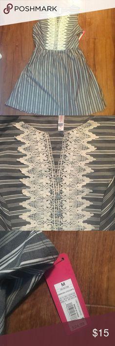 Striped grey dress Never warn, new with tags! Xhilaration Dresses Midi