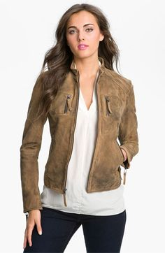 Officially on the quest for a leather jacket.....Buffalo by David Bitton Distressed Leather Jacket available at Nordstrom