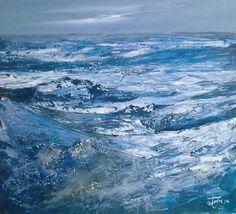Pianura  d'inverno  90x90 cm acrilico su mdf Luigi Torre painter 2014