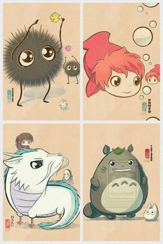 Ghibli characters <3 <3 <3 So cute!