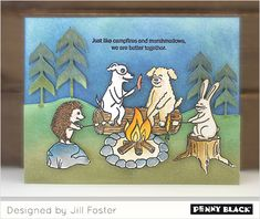 Camping Cards, Penny Black Cards, Dog Cards, Better Together, The Fosters, Blog, Stamping, Design