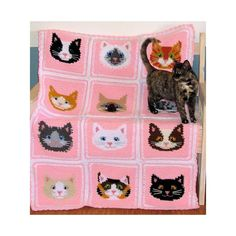 Sweet Kitty Afghan Crochet pattern by Craft Designs for You