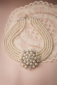 Lovely - Audrey Cream Pearl Choker Necklace