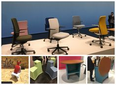 @Vitra classic #devildoll, #pacific chairs and new stool tools and table chair turned heads at #Orgatec2016