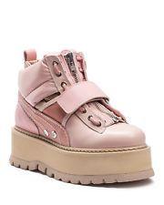 Fenty Puma x Rihanna Auth Strap Platform Pink Sneaker Boots Women Size 7.5 US
