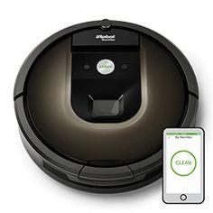 Roomba® 980 Staubsaugerroboter mit Steuerung über iPhone-App (€ 1199,00).   iRobot